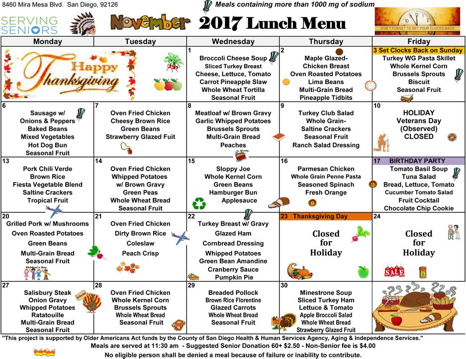 November Calendar 2017 Pdf
